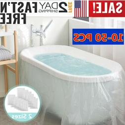 10-50x Travel Household Hotel Bath Tub Cover Disposable Bath