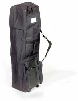 Golf Bag Travel Cover BLACK ONE SIZE Unisex Adult Sporting G