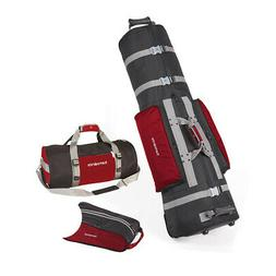 Samsonite Golf Deluxe 3 Piece Travel Set w/Cover, Shoe Bag &