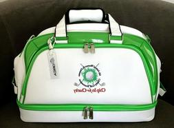 Orca Golf Travel Tote Bag Duffle, White/Green, w/Shoe Compar