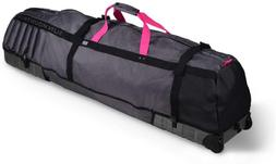 Sun Mountain Kube Travel Cover Graphite-Pink Travel Cover
