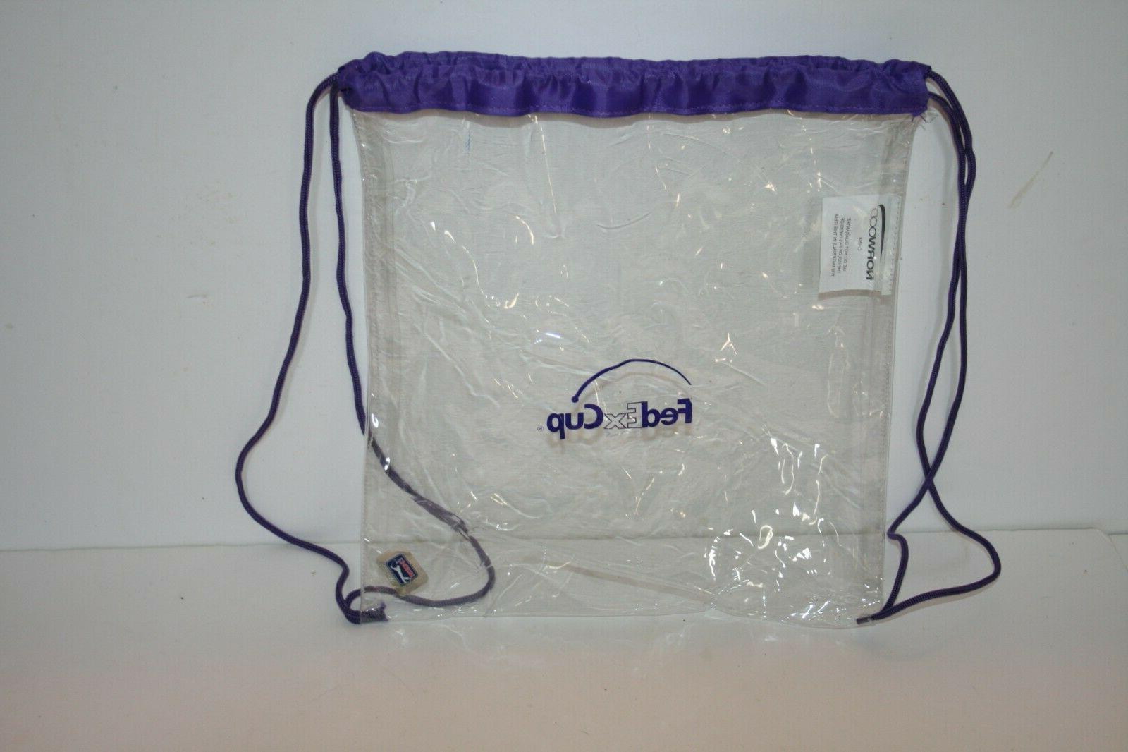 clear golf event cinch bag backpack drawstring