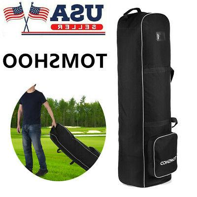 ptotable golf travel bag smooth rolling cover