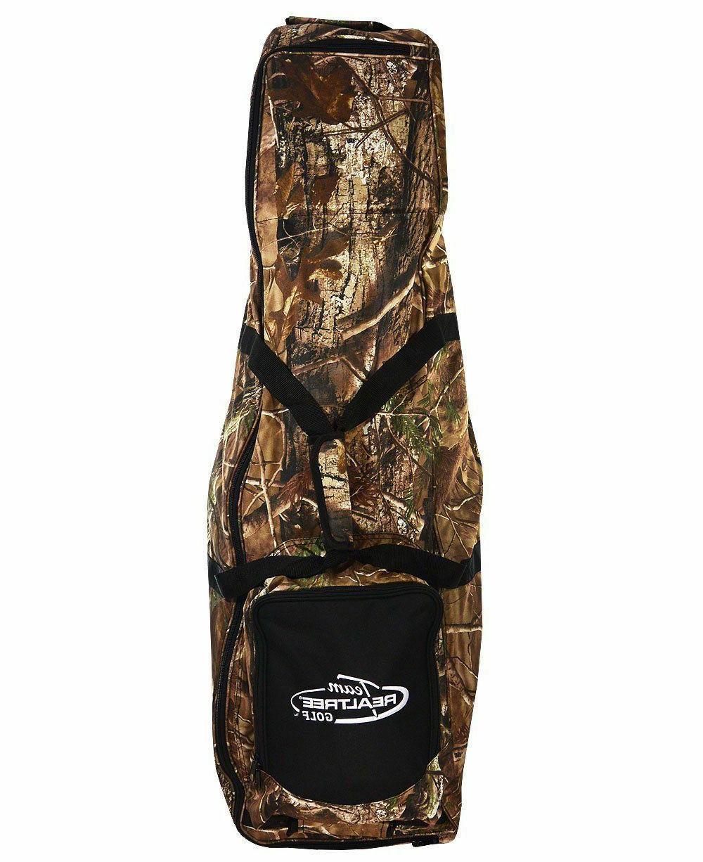TEAM REALTREE Soft Side Golf Club Rolling Travel Bag for Air