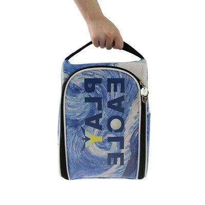 waterproof zippered golf travel shoes tote bag