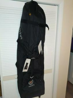 new golf bag carrier padded wheels travel