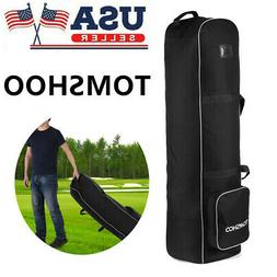 Ptotable TOMSHOO Golf Travel Bag Smooth Rolling Cover Case C