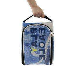 Waterproof Zippered Golf Travel  Shoes Tote Bag Carrier Case